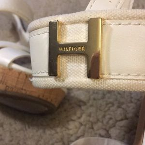 Tommy Hilfiger Shoes - Tommy Hilfiger white and cork wedges